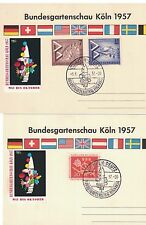 Germany  - Bundes Garden Show Koln 1957. Post Cards x 3  #02 GERMPC3