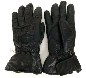 Genuine Harley Davidson Men's Black Leather Motorcycle Riding Gloves SZ XXL