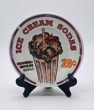 """Oneida Sunrise Diner """"Ice Cream Sodas"""" Salad Plate"""