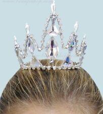🇺🇸 Snow Queen Nutcracker Silver Crystal Ballet Costume Tiara Crown Headpiece