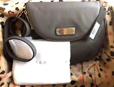 MARC by MARC JACOBS Q Natasha Leather Faded Aluminum Purse Crossbody Bag ❤ Grey