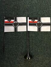 Germany Crest WW1 Table Top Flag 2nd Reich Imperial Kaiser 1914 1918 Deutschland