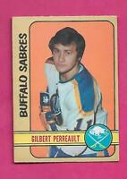 1972-73 OPC  # 136 SABRES GILBERT PERREAULT GOOD  CARD (INV# C3078)