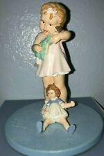 New ListingDanbury Mint 1993 Love Is Blind Figurine Bessie Pease Gutmann Girl w Dolls Euc