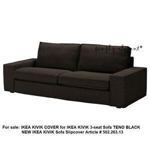 IKEA KIVIK Cover for KIVIK Sofa 3-seater Teno Black KIVIK Slipcover 502.263.13