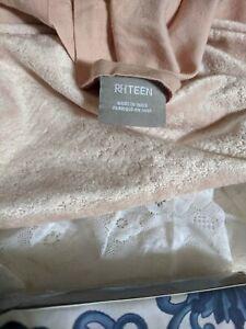 Restoration Hardware Teen Pillow Shams Pink  Washed Velvet Standard Pair