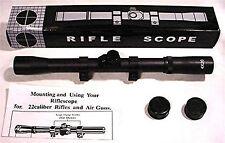 New 4 X 20 .22 BB Gun Air Rifle Scope & Mounting Rings RF4X20