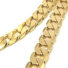 "24"" Chunky 24K Yellow Gold Filled Mens Necklace Solid Curb Chain 8mm Jewelry"