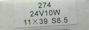 5 x 274 Festoon lamp 24v 24 volt 10W 10 Watt 11 x 39 mm in AJ3