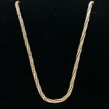 """VINTAGE 9 CT ROSE GOLD ROPE TWIST 20"""" NECKLACE CHAIN LONDON 1977 - 4.9 GRAMS"""