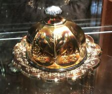 Northwood Singing Birds Domed Butter *RARE* Amethyst  Carnival Glass