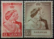 SARAWAK ( MALAYSIA ) 1948 SILVER WEDDING SG 165 - 166 MH