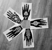 Henna Stencils henna tattoo temporary tattoo 5pc UK USAFast delivery Face Paint
