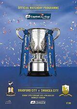 2013 CAPITAL ONE CUP FINAL PROGRAMME>BRADFORD CITY v SWANSEA CITY @ Wembley