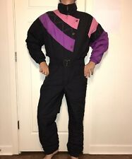 Vtg 80s 90s FERA One Piece Apres SKI SUIT Snow Bib Retro Snowsuit Womens XL 14