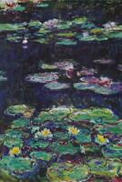 Claude Monet White And Yellow Water Lilies Art Print Mural Poster 36x54 inch