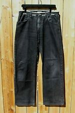 New listing Vintage 1990s Moschino Jeans Faded Black Distressed Peace Sign Italy 33x31
