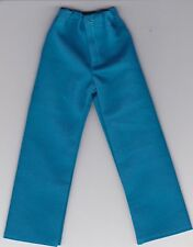 Homemade Doll Clothes-Beautiful Turquoise Colored Pants fits Ken Doll P3
