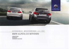 BMW ALPINA D3 BITURBO Limousine Touring Hochglanz Prospekt Brochure 2015 42