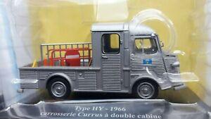 VOITURE  MINIATURE 1/43e  CITROEN TYPE HY Carrosserie Currus à double cabine1966