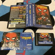 Spider-Man The Animated Series Sega Megadrive Complete Manual Damaged To Rear