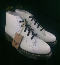 NEW Dr. Doc Martens Church Mens 10 Womens 11 Smooth White Leather Chukka Boots