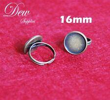 10pcs Ring trays adjustable pad ring base 16mm inner diameter, antique bronze