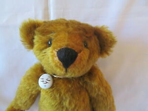 OOAK Artist Teddy Bear, Approximately Eleven Inches, Tan Mohair, Artist Unknown