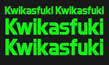 Kawasaki Kwikasfuki motorbike jetski Quad decals 2 large 2 small Moto cross