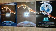 E.T l'extra-terrestre !  steven spielberg  les 3  affiches cinema