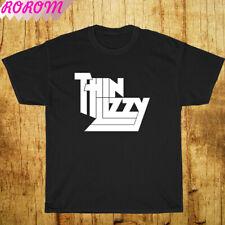 New Shirt Thin Lizzy Band Legend Logo Black/Grey/White/Navy T-Shirt S-3Xl