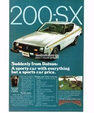 1977 Datsun 200-SX White 2-door Car Vtg Print Ad