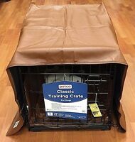 NEW Brown Pet Dreams Dog Crate Padding Set w/ a Cover, Bed + Bumper Pad Size S