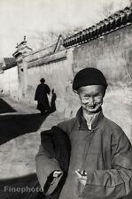 1949 Vintage Peking EUNUCH IMPERIAL COURT China 16x20 Art HENRI CARTIER-BRESSON