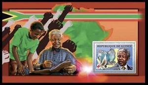 Guinea 2006 MNH SS, Nelson Mandela, Nobel Peace, Red Cross, Dove