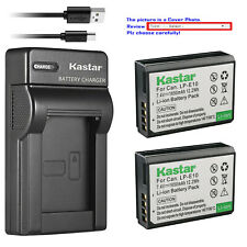 Kastar Battery Slim Charger for Canon LP-E10 LC-E10 & Canon EOS Rebel T6 Camera
