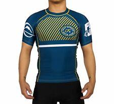 Fuji Limted Script MMA BJJ Jiu Jitsu ShortSleeve Short Sleeve SS Rashguard  Blue