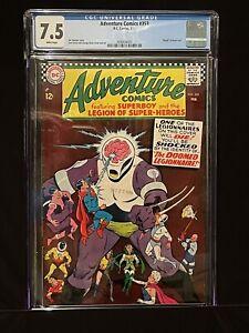 🔥Adventure Comics 353 CGC 7.5 1967 Death Of Ferro Lad in Legion CRISP & BRIGHT