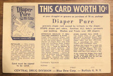 Vintage Advertisement Diaper Pure Baby Laundry Soap Postcard Ad