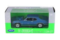 1:24-27 1969 Blue Pontiac GTO Judge WELLY DIECAST CAR