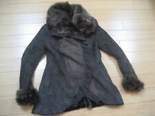 WOMEN'S ARTICO SHEARLING COAT SIZE 42 ITALY USED CLEAN 100% ANGORA FUR