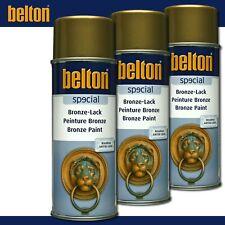 Kwasny Belton special 3 x 400 ml Bronze-Lack Gold Lackspray Antik Look