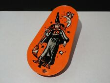 Vintage 1960's U.S. Metal Toy Mfg. Co. - Halloween Noise Maker - Witch, Cat, Owl