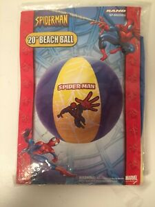 2005 Marvel Spiderman 20in Inflatable Beachball New