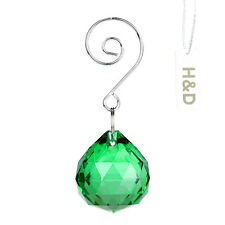 Green Crystal Lamp Ball Prism with Silver Note Hook For Chandelier Wedding Decor