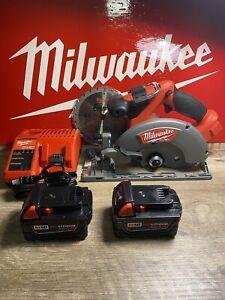 "New Milwaukee 2730-20 M18 FUEL 18V Li-Ion 6-1/2"" Circular Saw 2 5.0 Ah Battery"