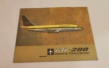 Boeing 737 Full Size Aircraft Airliner Manufacturer Brochure 1966