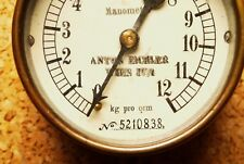 Vintage Rare laiton Vapeur Pression Manomètre Anton Eichler Wien, Autriche