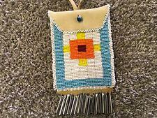 Native American Bead Buckskin Pouch