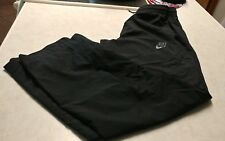 mens black 'Nike' mesh lined poly athletic/running pants size M